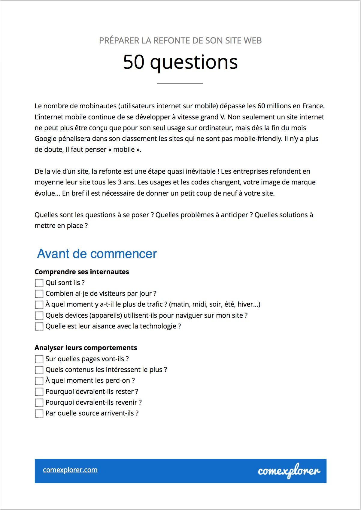 Checklist refonte site web