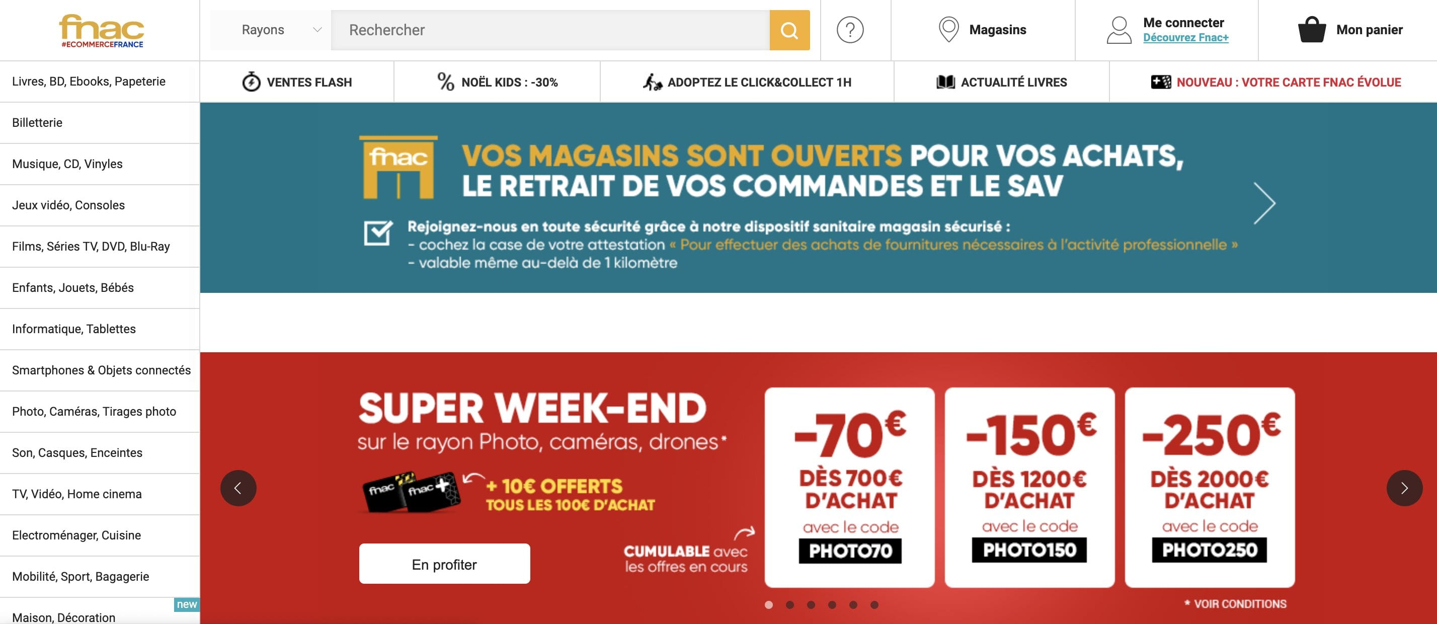 exemple business model - site ecommerce B2C - fnac